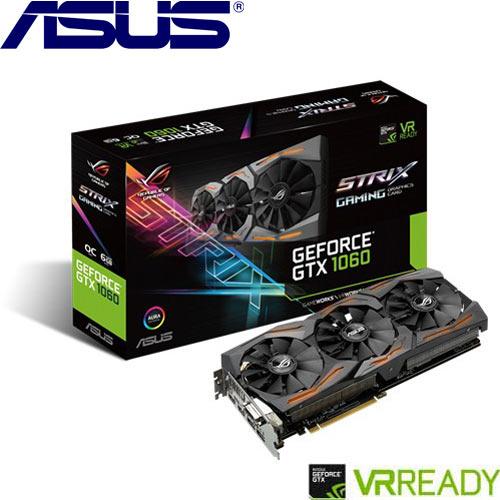ASUS華碩 GeForceR STRIX-GTX1060-O6G-GAMING 顯示卡