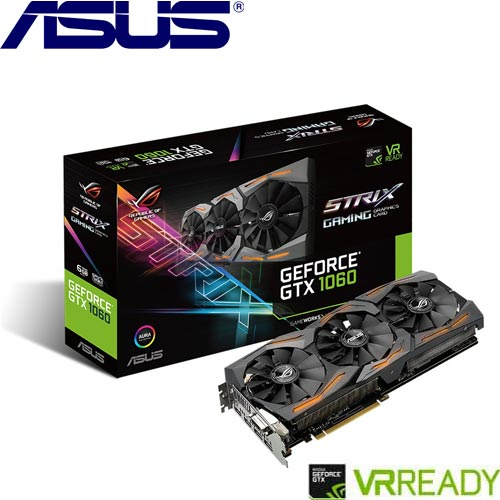 ASUS華碩 GeForce® STRIX-GTX1060-6G-GAMING 顯示卡