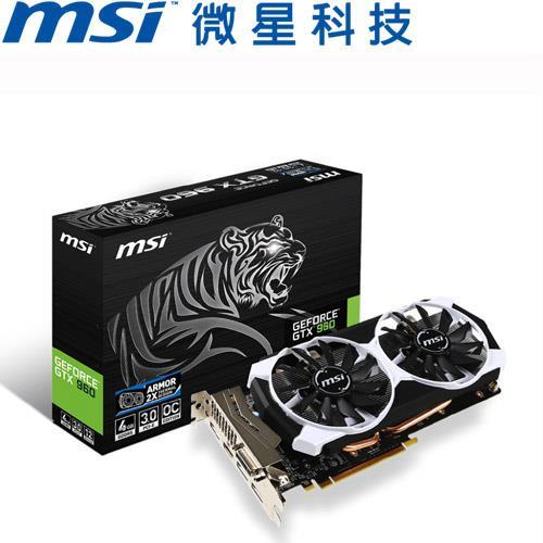 MSI微星 GeForce® GTX 960 4GD5T OC 顯示卡