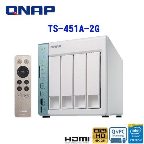 【網購獨享優惠】QNAP威聯通 TS-451A-2G 2Bay網路儲存伺服器