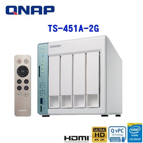 QNAP威聯通 TS-451A-2G 2Bay網路儲存伺服器