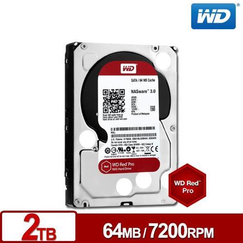 WD 旗艦紅標 3.5吋 2TB SATA3 NAS專用內接硬碟WD2002FFSX