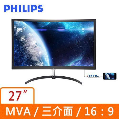 PHILIPS  27型廣視角曲面液晶螢幕 279X6QJSW