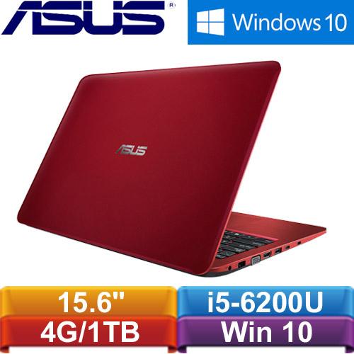 ASUS華碩 X556UR-0063F6200U 15.6吋筆電 紅<福利機>