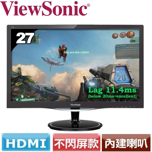 R2【福利品】ViewSonic優派 27型電競寬螢幕 VX2757-MHD