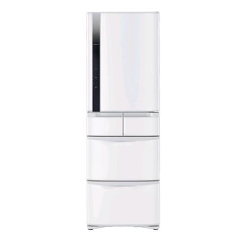 HITACHI 420公升智慧ECO五門超變頻冰箱 RS42FJW星燦白 右開