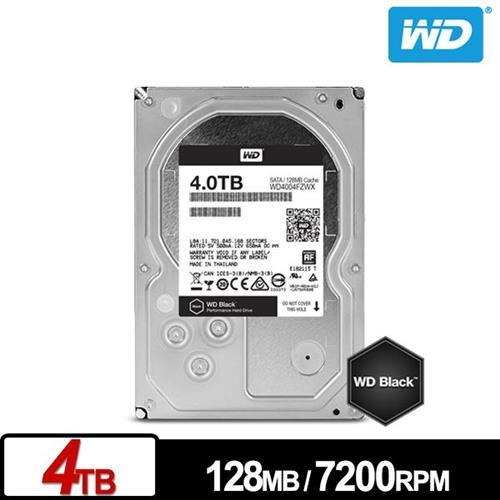 WD 黑標 3.5吋 4TB SATA3 內接硬碟 WD4004FZWX