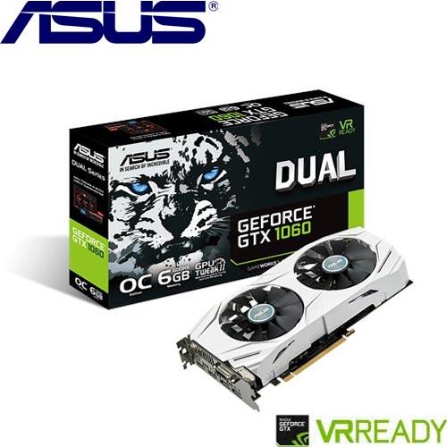 ASUS華碩 GeForce® DUAL-GTX1060-O6G-GAMING 顯示卡