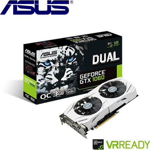 ASUS華碩 GeForce® DUAL-GTX1060-O3G-GAMING 顯示卡