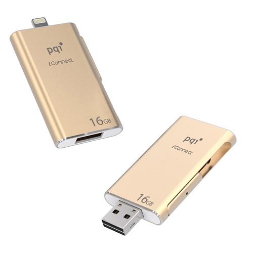 PQI iConnect 蘋果隨身碟 16G 金