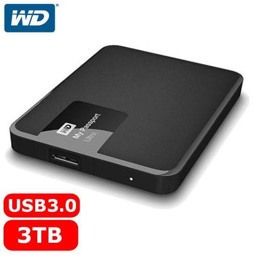 【網購獨享優惠】WD My Passport Ultra 2.5吋 3TB 行動硬碟 經典黑