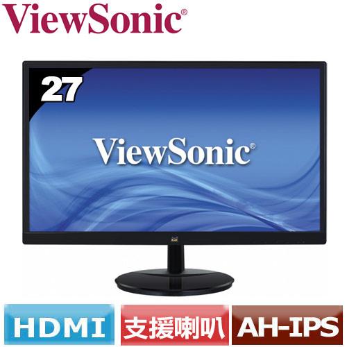 ViewSonic優派 27型美型廣視角液晶螢幕 VA2759SMH