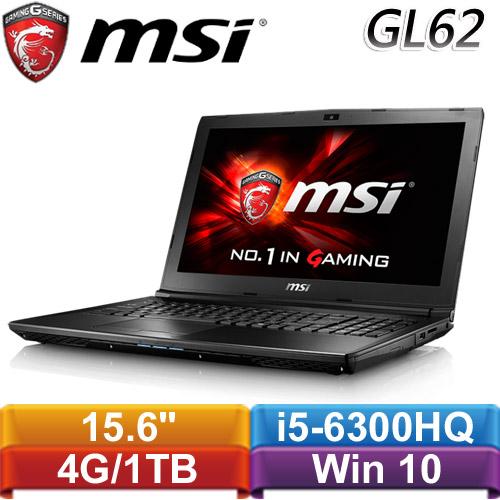 MSI微星 GL62 6QF-848TW-BB5630H4G1T0S10M 15.6吋電競筆記型電腦