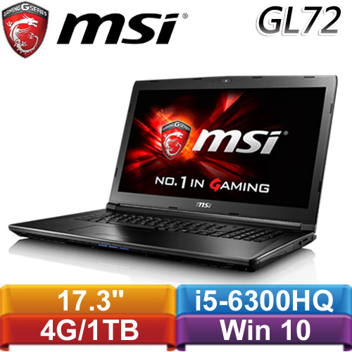 MSI微星 GL72 6QF-485TW-BB5630H4G1T0S10M 17.3吋電競筆記型電腦