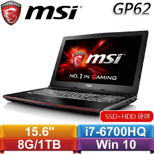 MSI微星 GP62 6QF(Leopard Pro)-847TW-BB7670H8G1T0DS10MH 15.6吋電競筆記型電腦