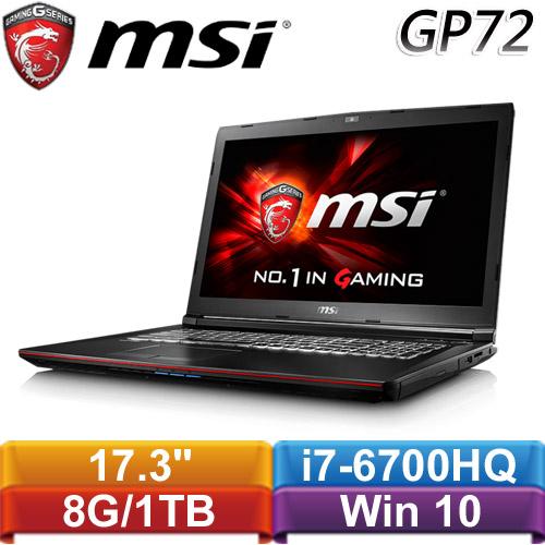【福利品】MSI微星 GP72 6QF-483TW H 17.3吋電競筆電