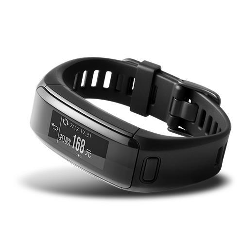 GARMIN vivosmart HR  iPass 腕式心率智慧手環(沉穩黑)
