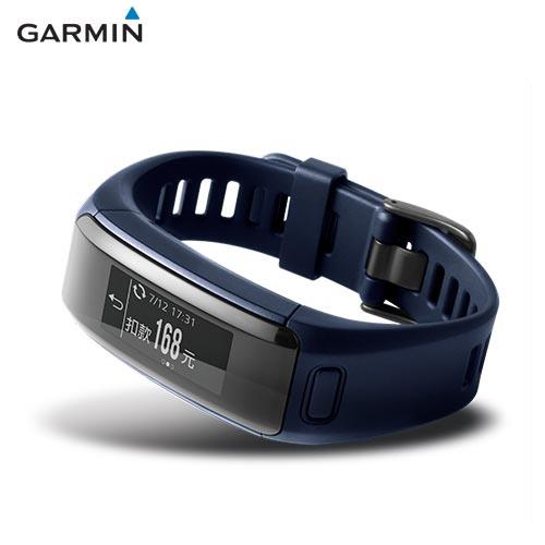 GARMIN vivosmart HR  iPass 腕式心率智慧手環(都市藍)