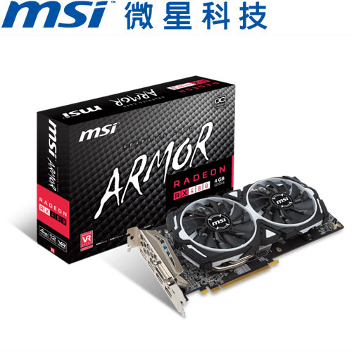 MSI微星 Radeon RX 480 ARMOR 4G OC 顯示卡