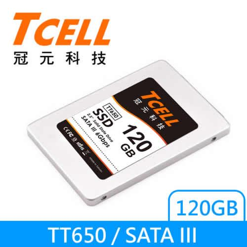 TCELL 2.5吋SSD TT650 120G 固態硬碟【特價中↘送Line點數卡】