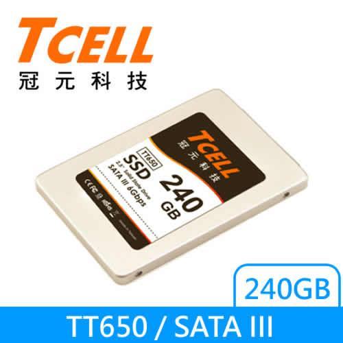 TCELL 2.5吋SSD TT650 240G 固態硬碟【限量10顆~每人限購乙顆】