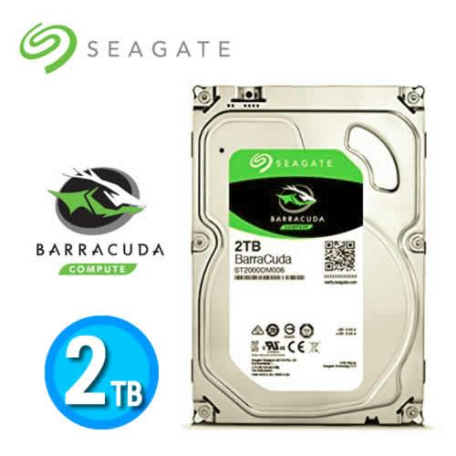 Seagate Barracuda Desktop HDD 3.5吋 SATA3 2TB桌上型硬碟機