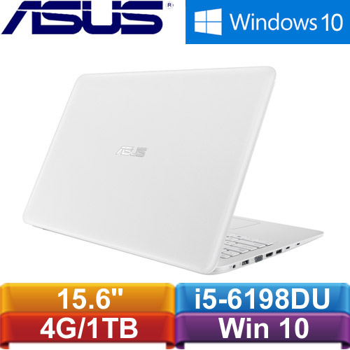 ASUS華碩 X556UR-0153G6198DU 15.6吋筆記型電腦 天使白