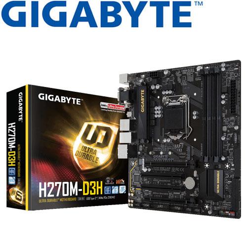 GIGABYTE技嘉 GA-H270M-D3H 主機板