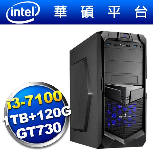 華碩B150平台【狙擊神兵】i3雙核GT730獨顯SSD電玩機