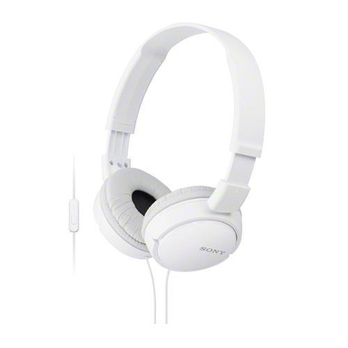 SONY 手機通話耳罩式耳麥 MDR-ZX110AP-W 白