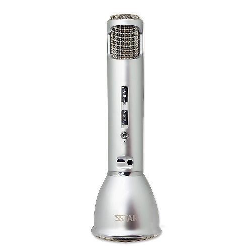 SSTAR無線藍芽麥克風-銀色