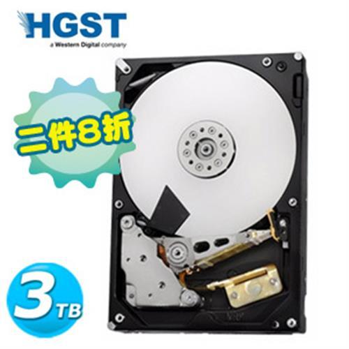 【二入組】HGST 3.5吋 3TB SATA3 7200轉 NAS專用 內接硬