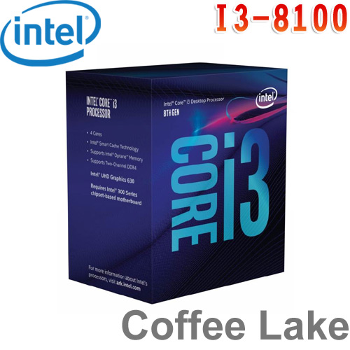 Intel英特爾 Core i3-8100 處理器