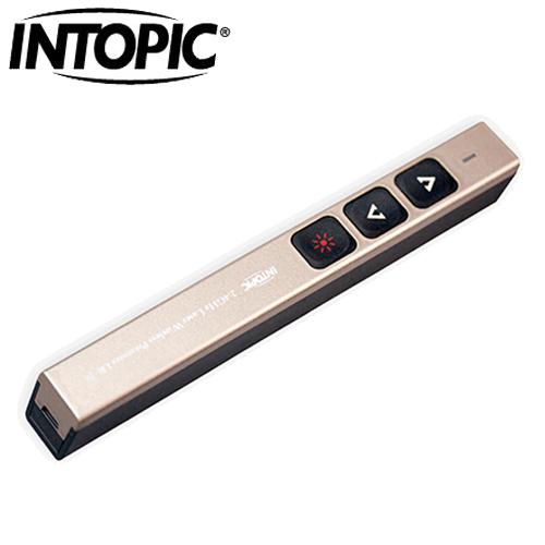 INTOPIC 廣鼎 MS-LR26 2.4GHz 無線雷射簡報筆 金