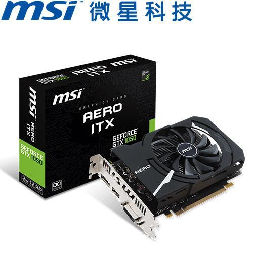 MSI微星 GeForce GTX 1050 AERO 2G OCV1 顯示卡