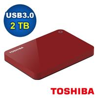 Toshiba 2.5吋 V9 2TB USB3.0 外接式硬碟 紅