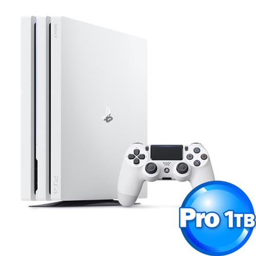 SONY 新力 PS4 PRO 主機 CUH-7117 系列 1TB 冰河白【GPU性能升級更細緻流暢、穩定】
