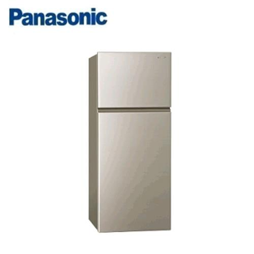 Panasonic 232L 2門全平面無邊框鋼板電冰箱 NR-B239TV-R亮彩金) 【現省1千5送炒鍋 含運+送基安+回收舊機】