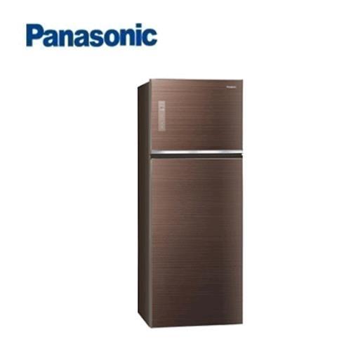 Panasonic 485L 2門全平面無邊框鋼板電冰箱NR-B489TG-T(翡翠棕)