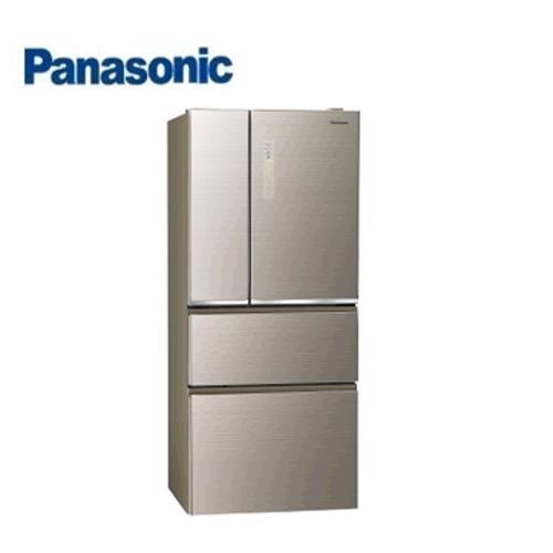 Panasonic 610L 4門全無邊框玻璃電冰箱NR-D619NHGS-N(翡翠金)【現省4千送千元 含運+送基安+回收舊機】