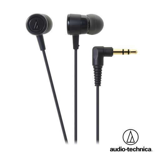 【公司貨-非平輸】鐵三角 ATH-CKL220 耳塞式耳機(附捲線器)(黑色)