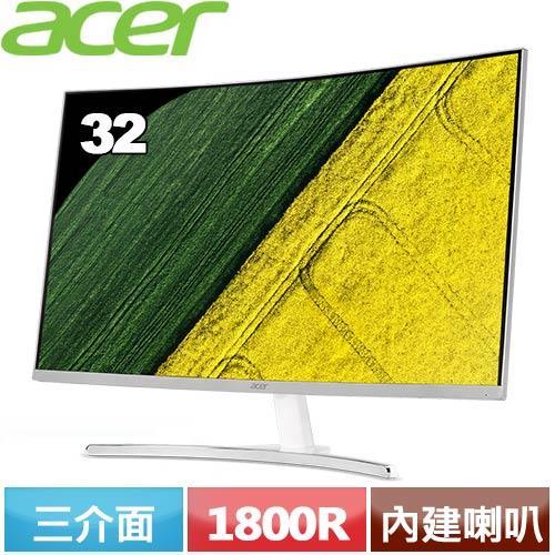 Acer ED322Q 32型 VA曲面薄邊框電腦螢幕