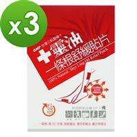【十靈本舖】十靈油一條根舒緩貼片-長效型熱感貼片 3盒組(共15片)