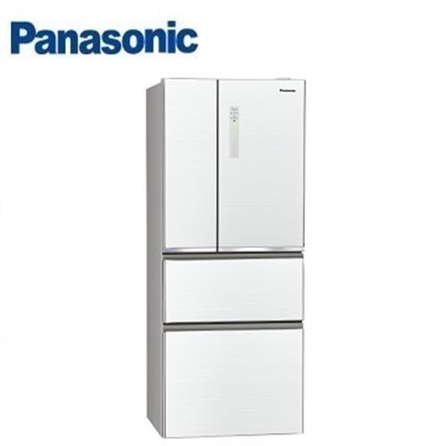 PANASONIC國際牌500公升4門 NR-D509NHGS全平面無邊框玻璃電冰箱 (翡翠白)【送千元商品卡+基本安裝】