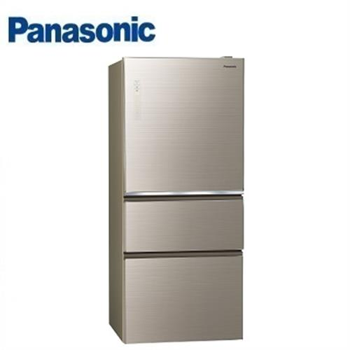 PANASONIC國際牌610公升NR-C619NHGS三門全平面無邊框玻璃電冰箱(翡翠金) 【現省4千送千元 安裝+回收舊機+配送】