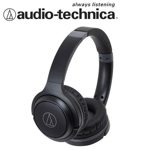 【公司貨-非平輸】鐵三角 ATH-S200BT 無線藍芽耳罩式耳機(黑色)