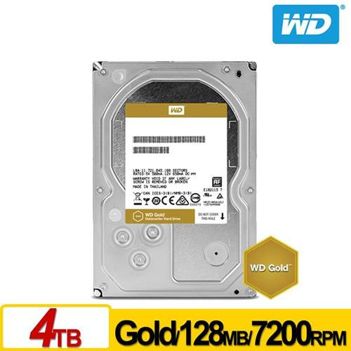 WD 金標 3.5吋 4TB SATA3 企業級硬碟 WD4002FYYZ