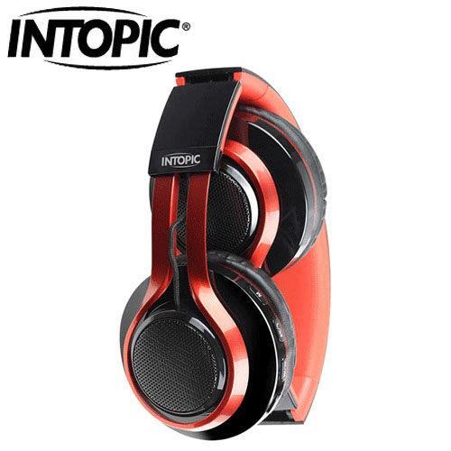 INTOPIC 廣鼎 JAZZ-BT960 藍牙摺疊耳機麥克風 黑紅