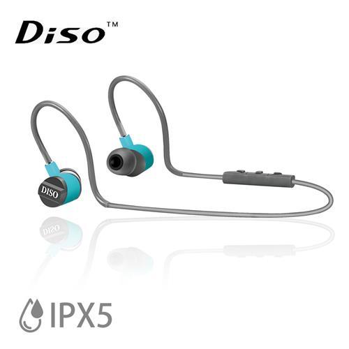 DISO MH-816 IPX5極輕藍芽耳機 (藍灰)