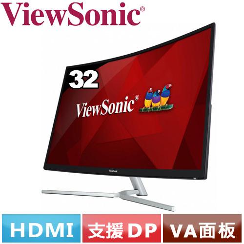 R2【福利品】ViewSonic優派 32型 曲面極速電競螢幕 XG3202-C